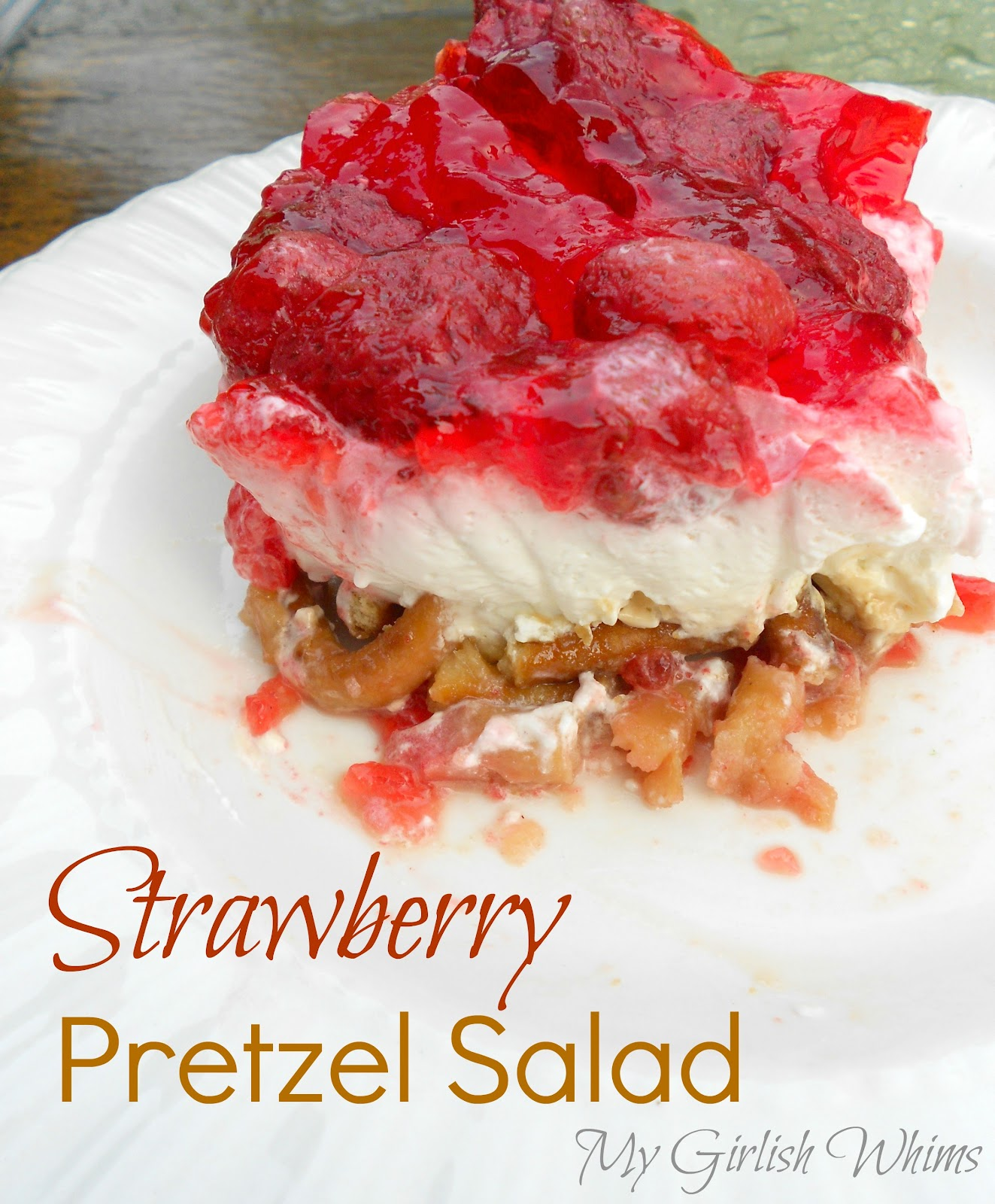 Strawberry Pretzel Salad Recipe - My Girlish Whims