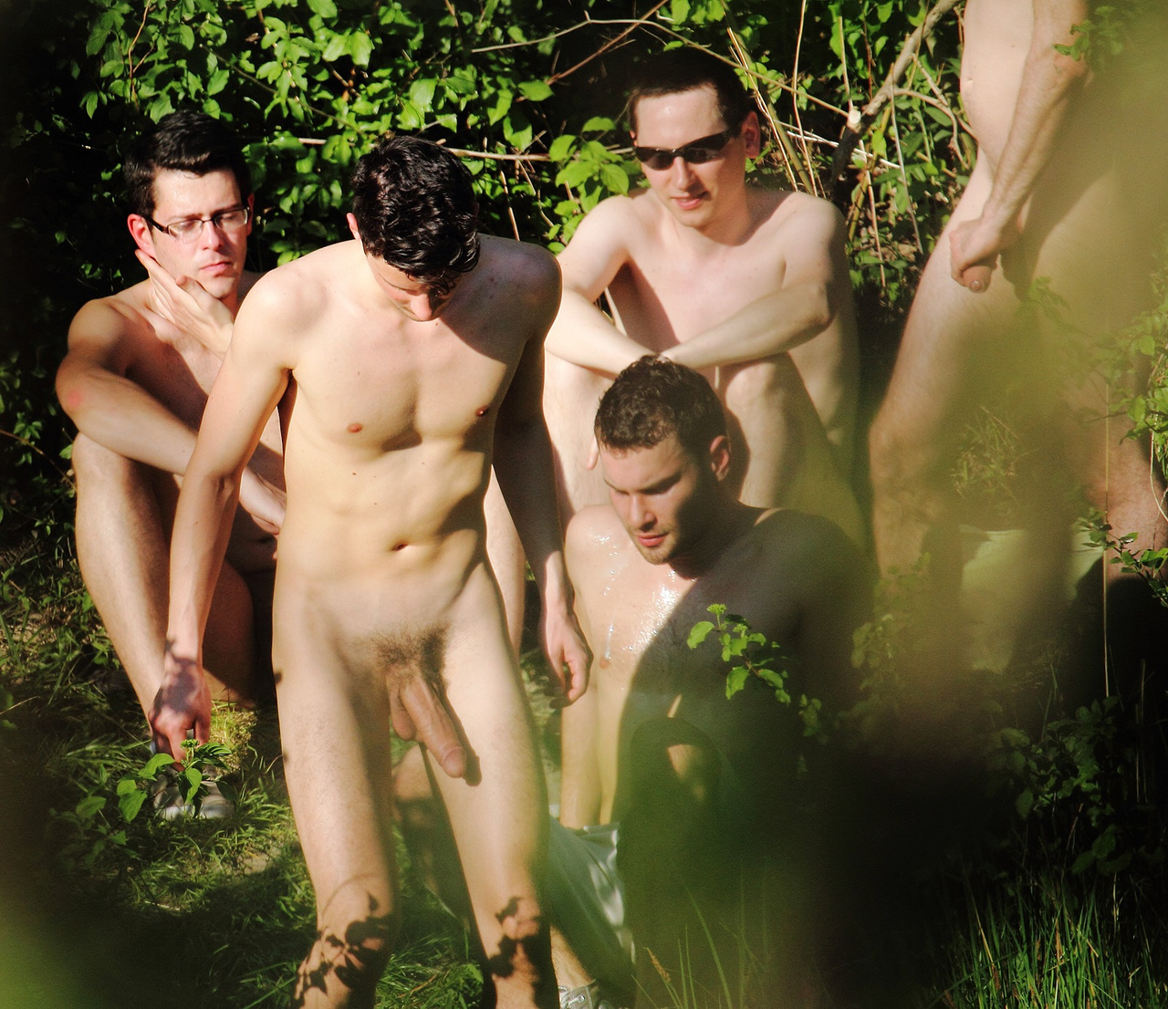 All male nude outdoors gay coffee shop boy 8