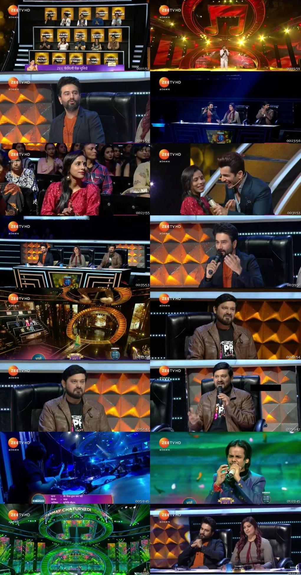 Screenshots Of Hindi Show Sa Re Ga Ma Pa 6th January 2019 Episode 25 300MB 480P HD
