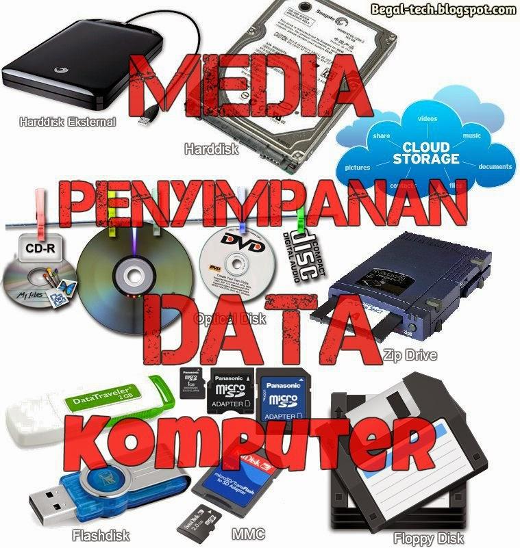 macam media penyimpanan data