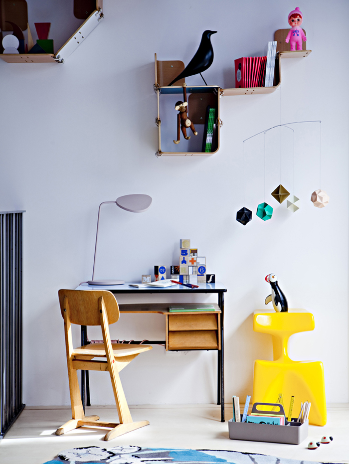 work space at Balouga kids store in Paris photo Julie Ansiau