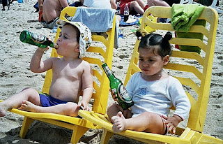 funniest photos kids drinking beer on the beach