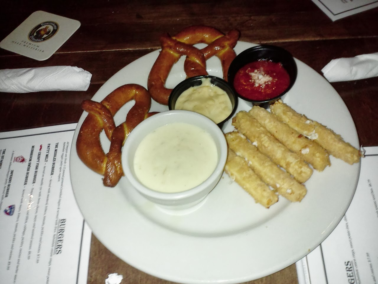 Sampler appetizer from Allen Wickers Pub