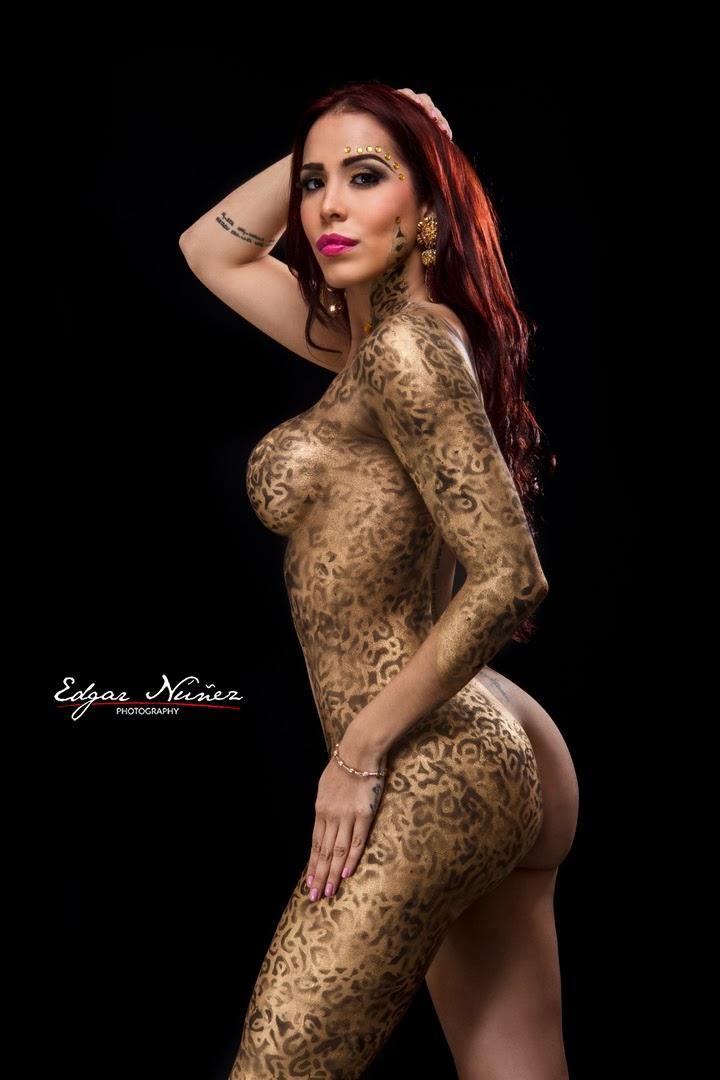 Jessica Pereira Nude Body Paint