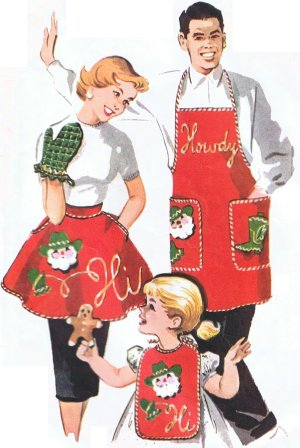 The 50 s Project December 8 1950 Christmas Aprons #2: Christmas Apron