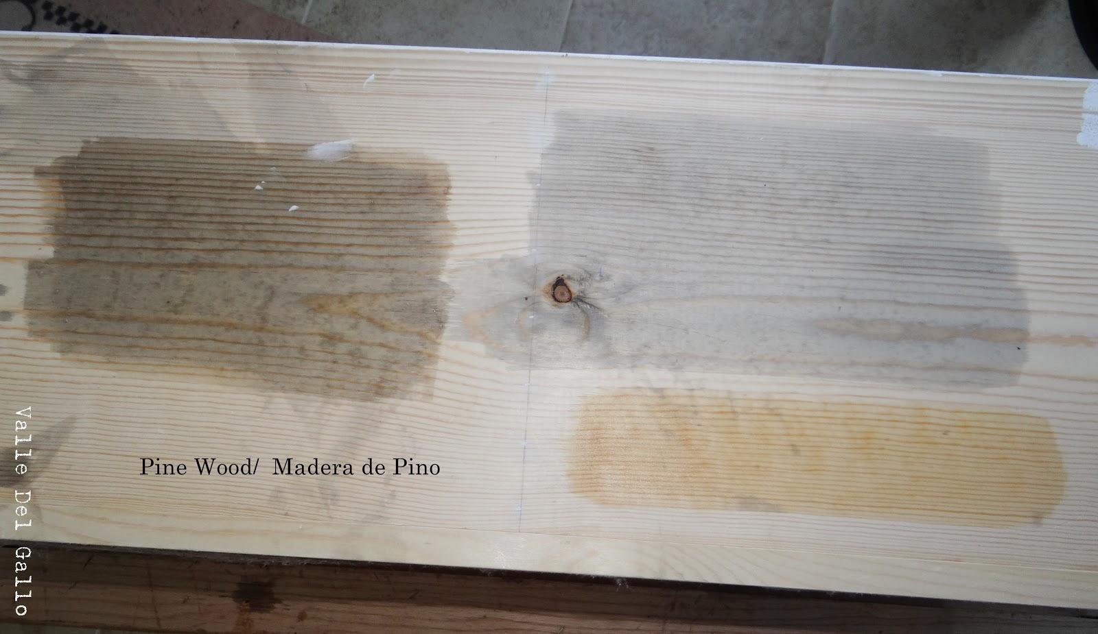 Valle del gallo tinendo madera con te vinagre lana de - Como hacer color gris ...