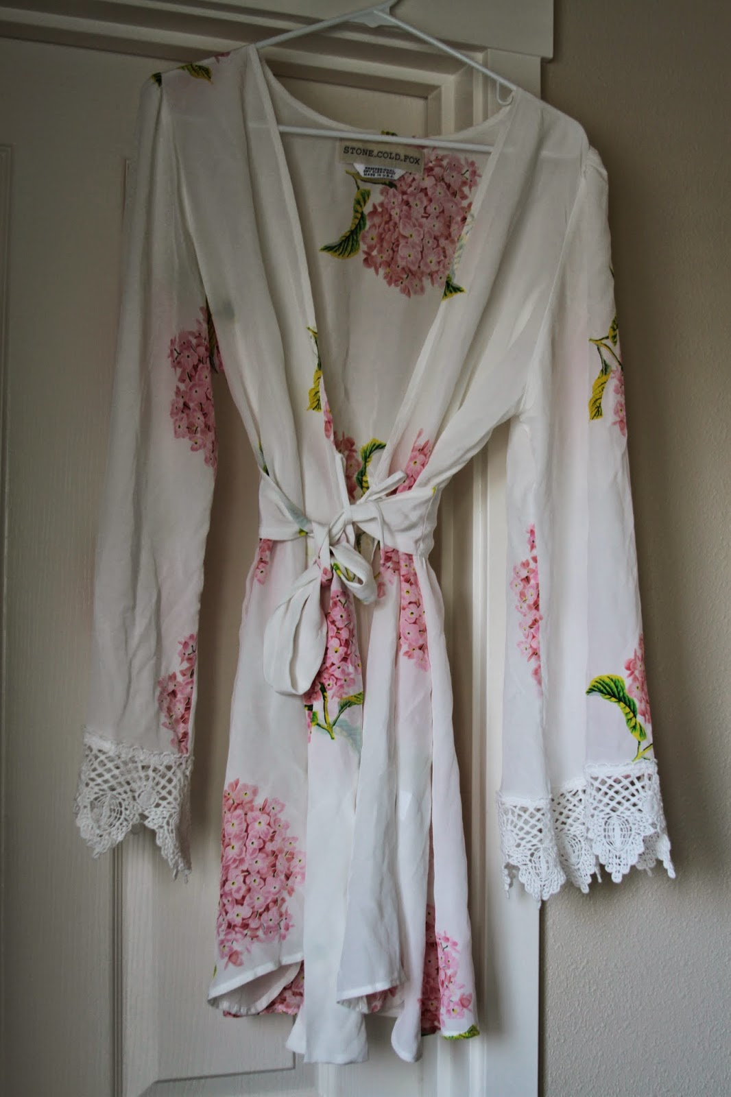 Stone Cold Fox Silk Robe