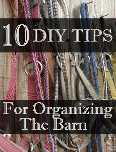 10 DIY Tips – Organizing the Barn (Part 1)
