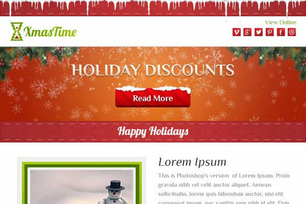 XmasTime – Holiday Business Email Template HTML