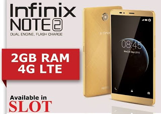 Get Infinix Note 2 2GB Ram 4G LTE for N37,000 Only