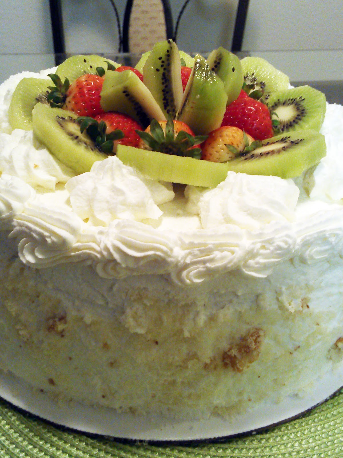 ... but Delightful Confections: Vanilla Cake w/ Whipped Cream Frosting