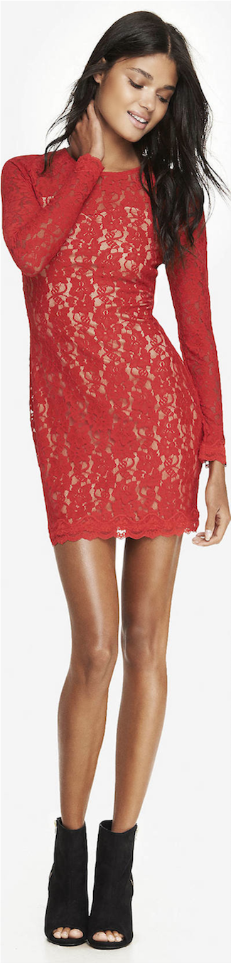 RED Sheath Express Dress