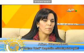 Elektron Təhsil Müsabiqəsinin 1-ci yer qalibi olaraq AZTV canlı efirinin qonağı oldum