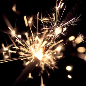 Sparkler by Poppet with a Camera