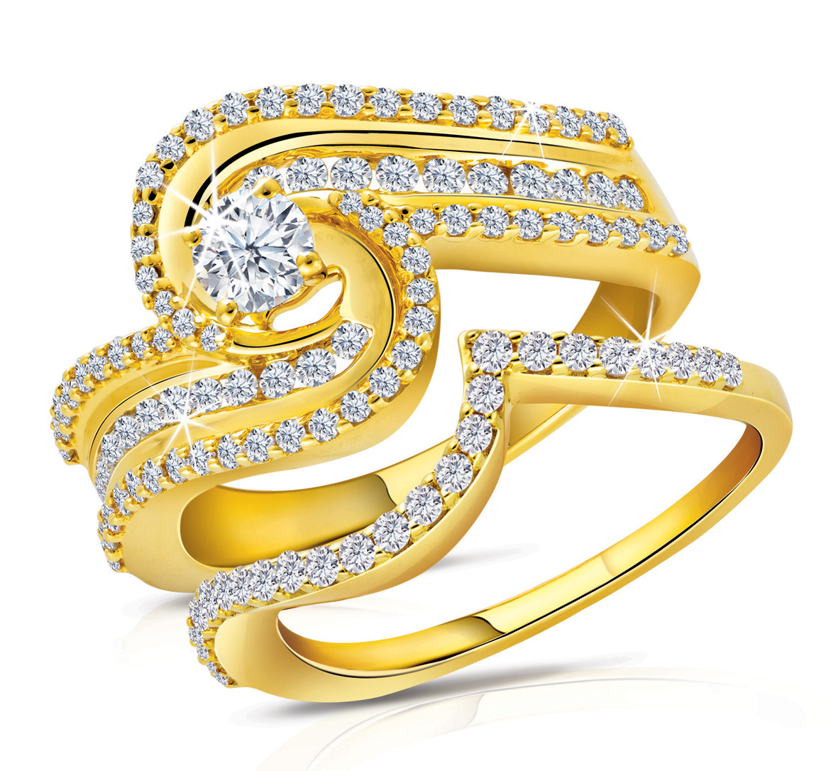 gold ring: