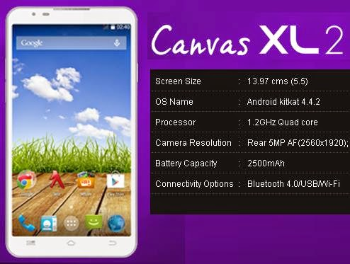 Micromax Canvas XL2 A109 price India image