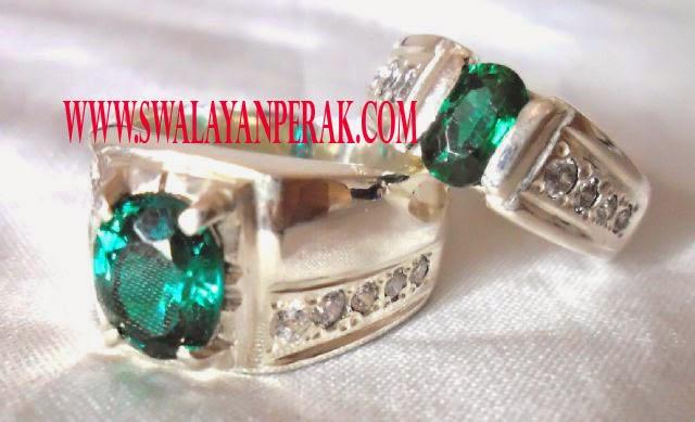 foto gambar model terbaru cincin batu akik hijau lumut unik