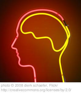 profilo umano con cervello