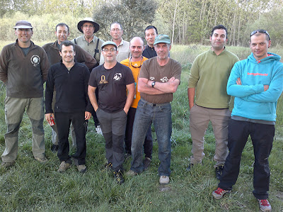 Miembros del club de pescadores Peña de la Cruz