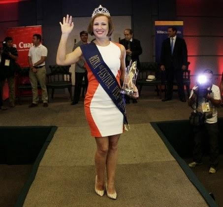 Sigrid Alegría en plena coronación como Reina de Viña del Mar 2014