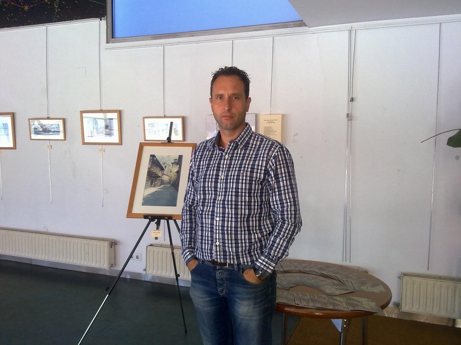 Exposición de acuarelas en el Centro Cívico del Crucero. León.