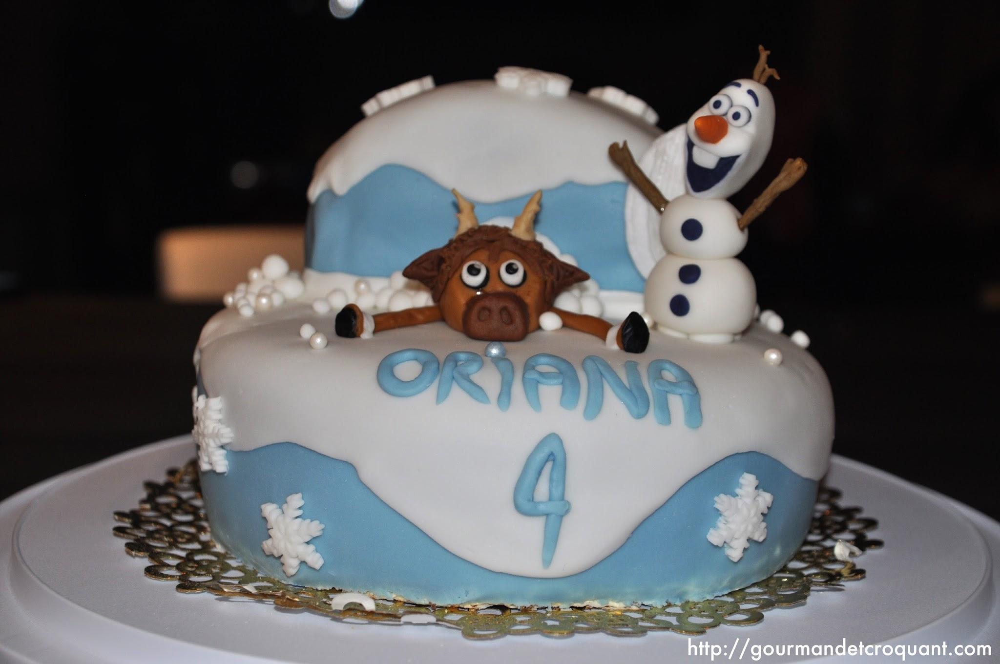 Top Gourmand et Croquant: Gâteau d'anniversaire: la Reine des Neiges KF27