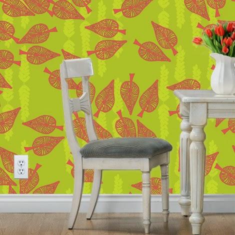 Spoonflower Wallpaper Mockup