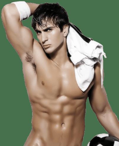 Hombre sexy icono en movimiento