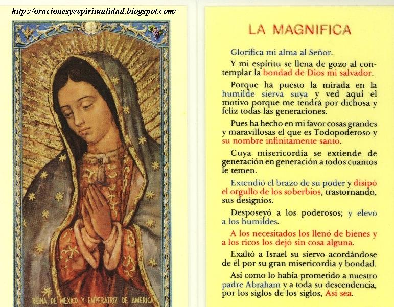 Oracion De La Magnifica Para Imprimir