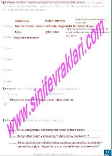 8.Sinif Turkce Enderun Yayinlari Calisma Kitabi Cevaplari Sayfa 13