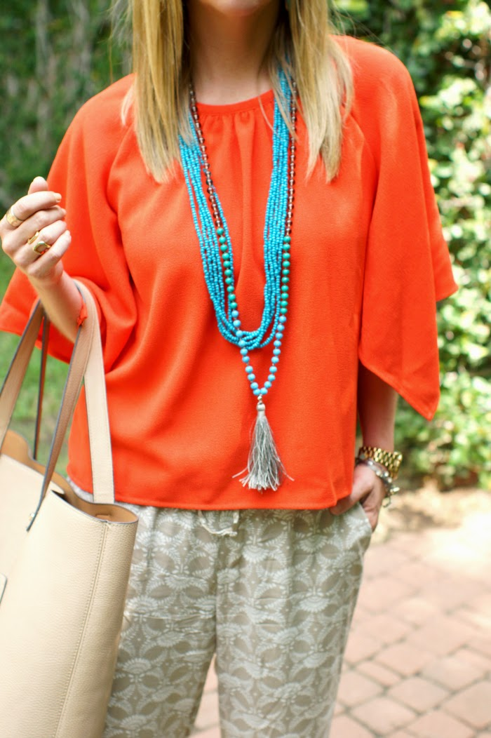 Orange & Turquoise Outfit Idea
