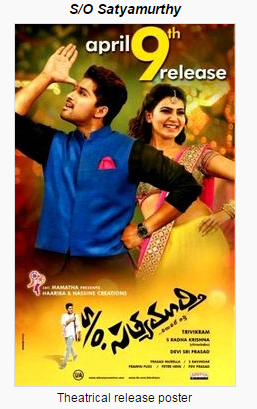 So Satyamurthy (2015) Telugu Movie Watch Online and Download Free AVI 720p