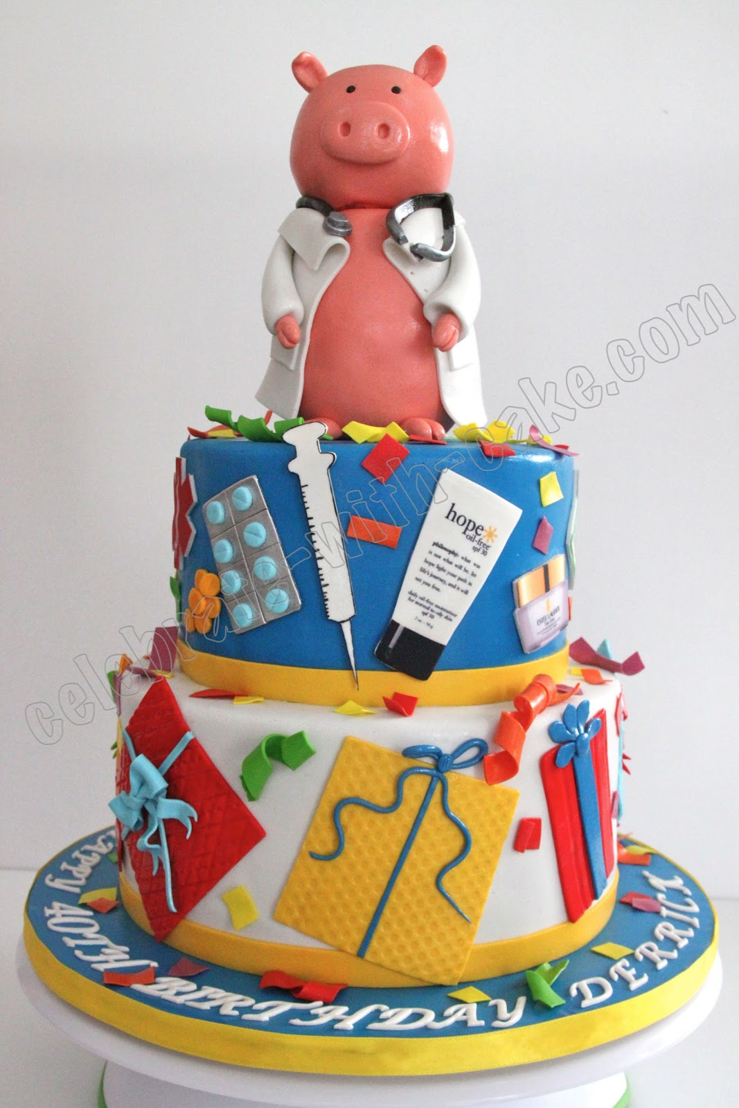 Celebrate With Cake Pig Doctor Themed Cake