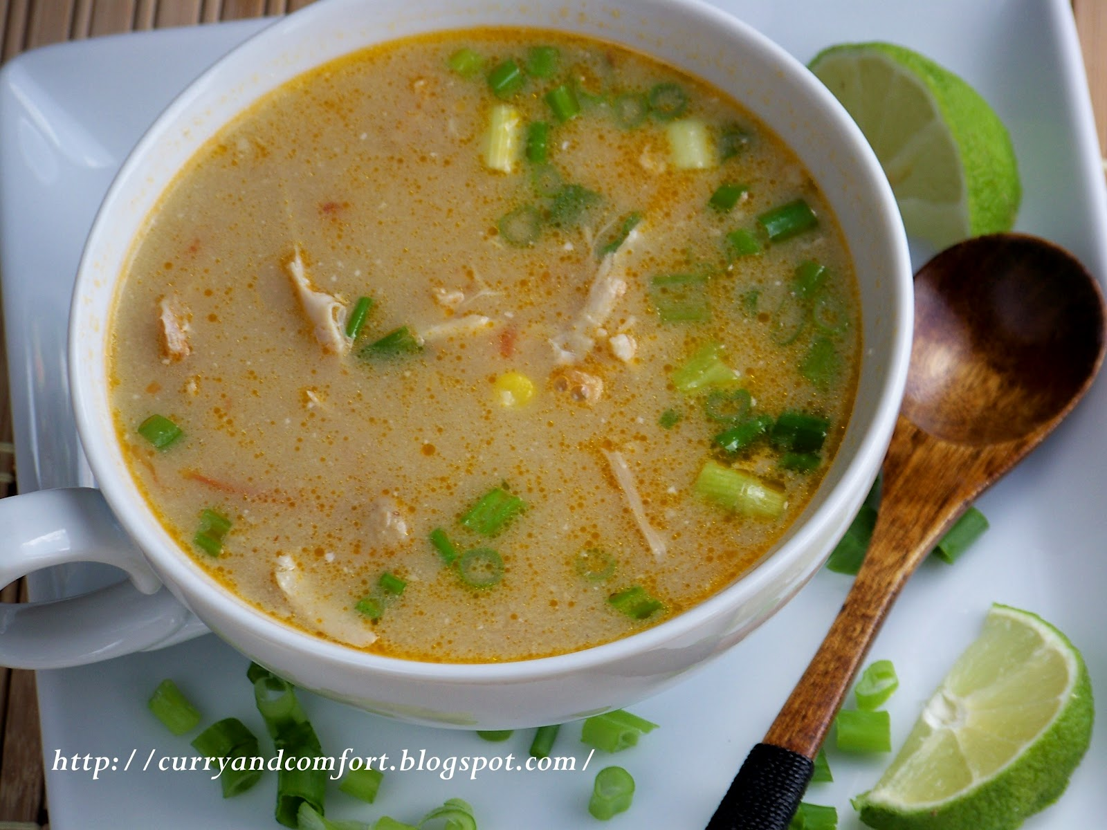 Thai Chicken, Corn and Coconut Soup