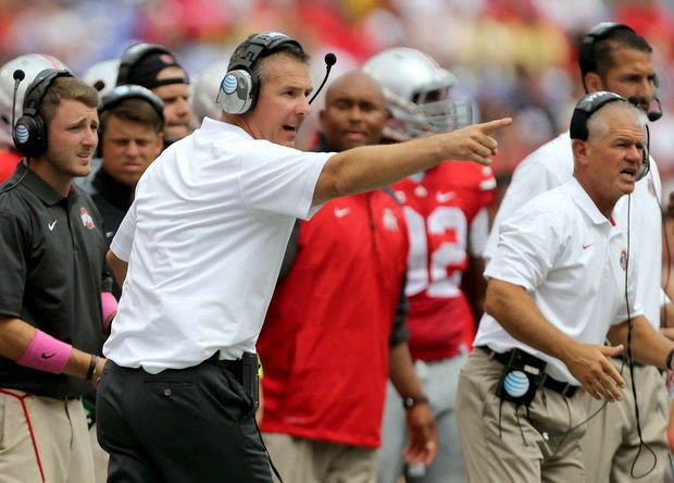 Shocker: Urban Meyer isn't satisfied with Ohio State's Week One performance.