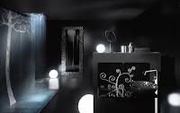 Baños modernos negros