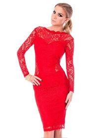 Dress cantik warna merah model baru masa kini