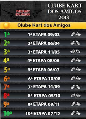 Calendário 2013 - Clube Kart dos Amigos
