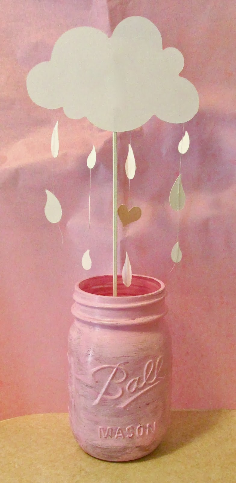 Trina 39 s day showers of blessings clouds and raindrops for Cloud centerpieces