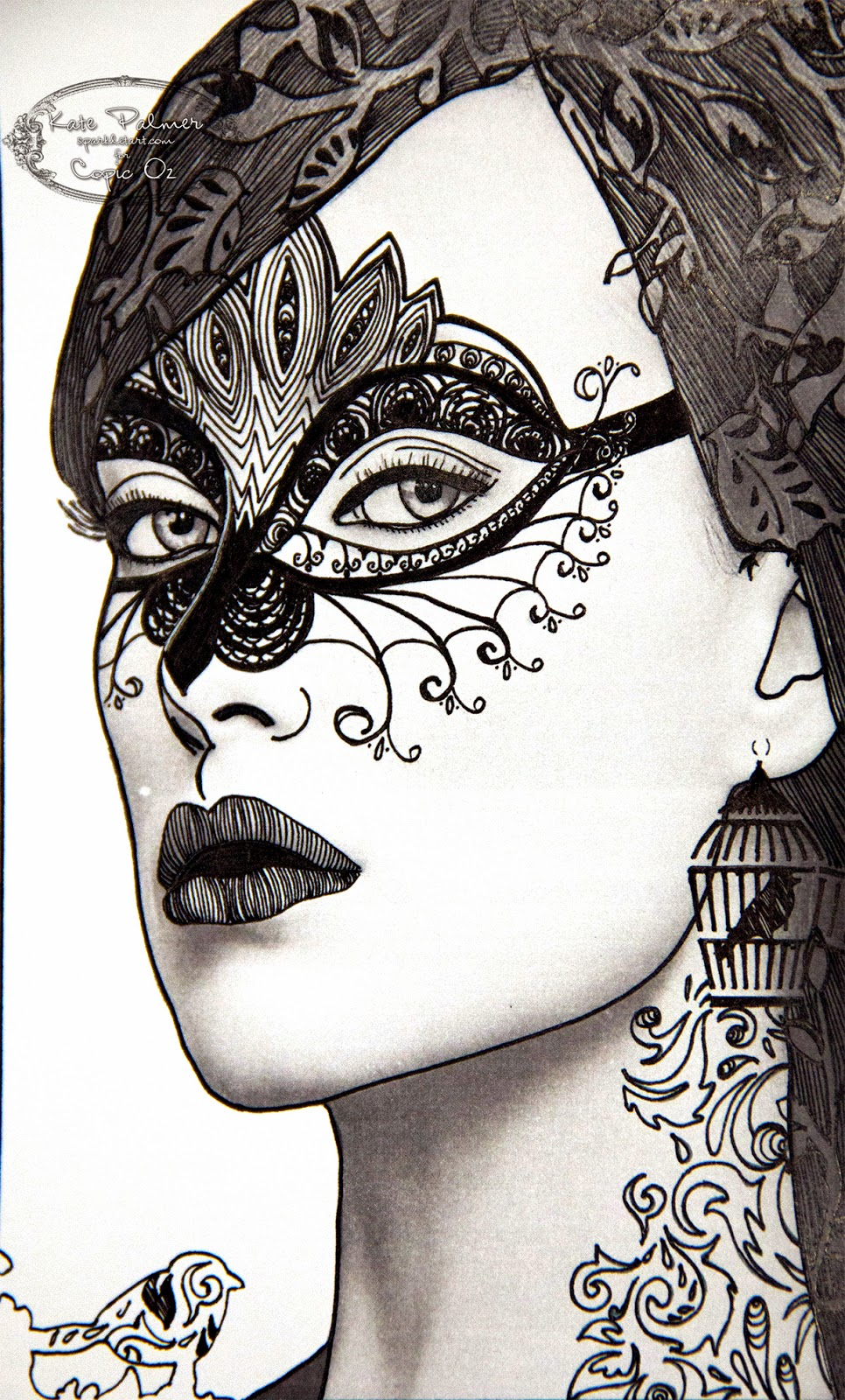 Doodled Portrait