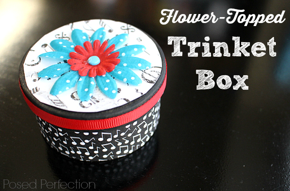 Flower-Topped Trinket Box