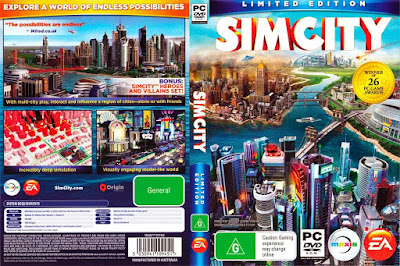 Jogo SimCity 2013 Offline Version noSTEAM PC DVD Capa