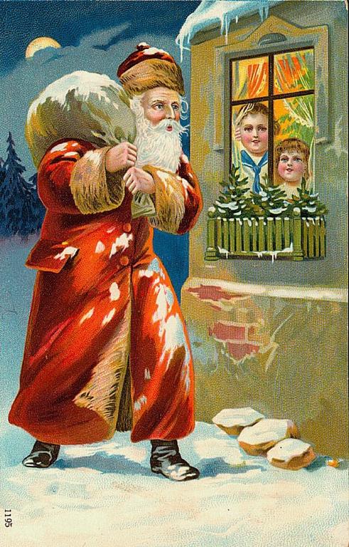 Новогодние и рождественские открытки и
