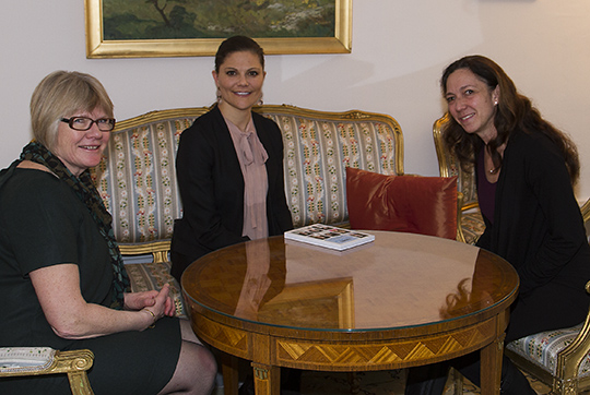 Princess Victoria met with Elisabeth Wallenius