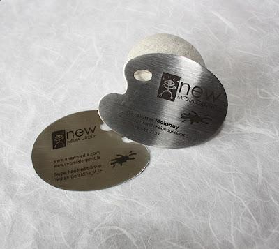 tarjetas de presentacion metalico