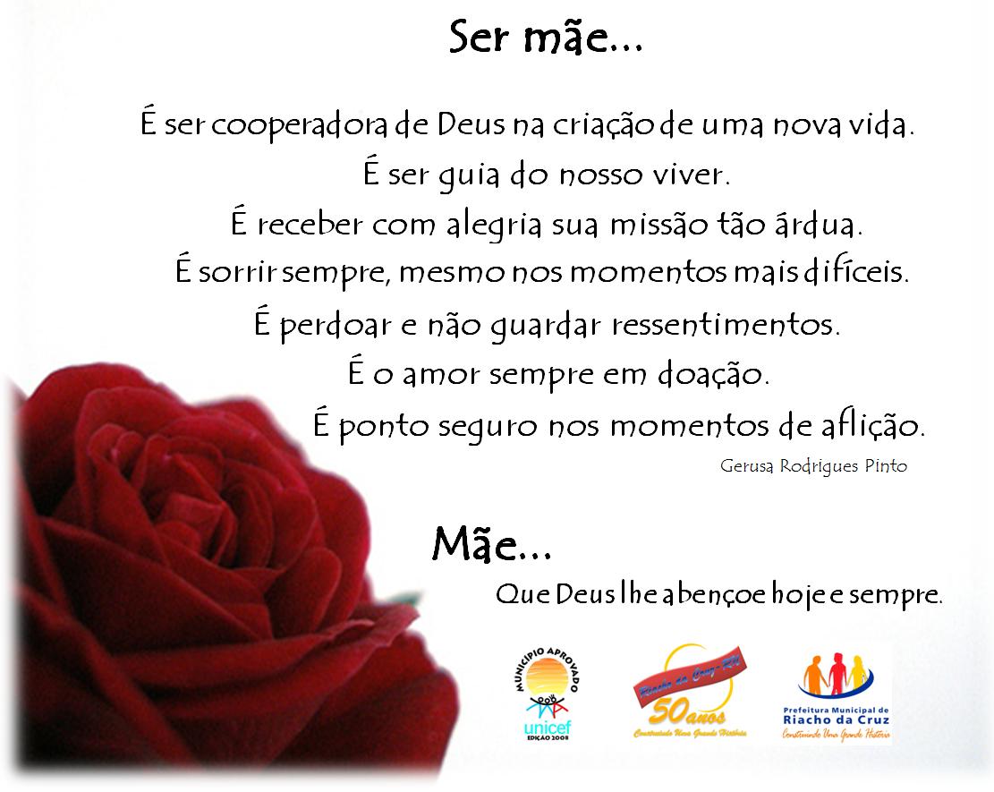 Mensagem ao Dia das Mãe da Prefeitura Municipal