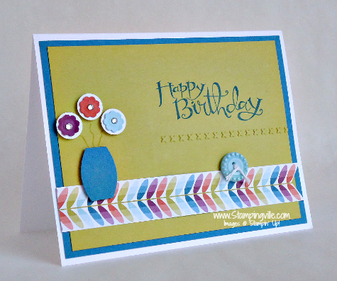 Stampin' Up! Sassy Salutations Birthday Card