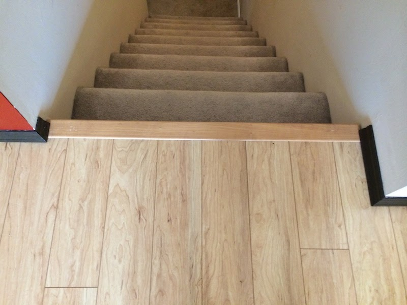 Handy in KS: Installing Pergo Laminate Flooring: Transitions, Stair Nose, and Baseboards