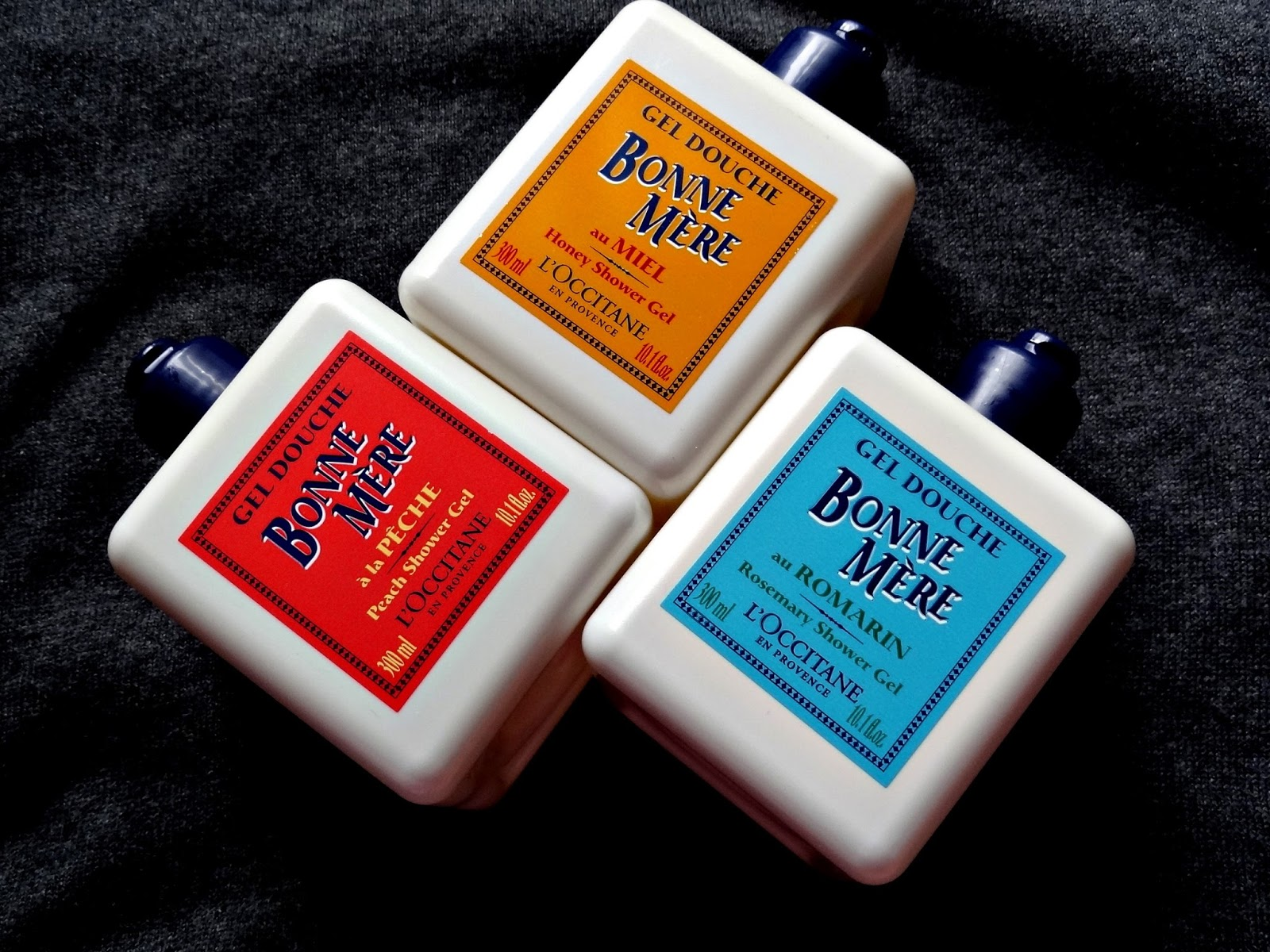 L'Occitane Bonne Mere Shower Gels in Honey, Rosemary & Peach