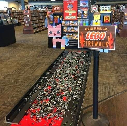 "Photograph of ""LEGO firewalk"" in South Portland"